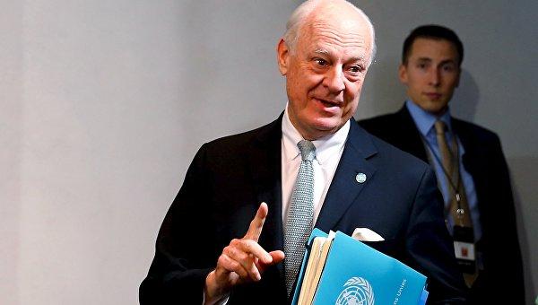 Спецпосланник ООН по Сирии Стаффан де Мистура в Мюнхене