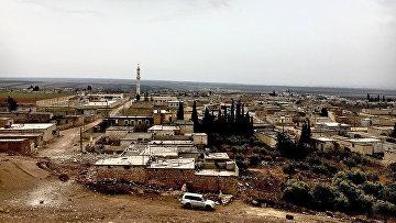 Город Нубель на севере провинции Алеппо в Сирии. Архивное фото