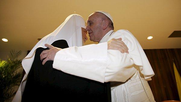 Встреча патриарха Московского и всея Руси Кирилла с папой Римским Франциском, 12 февраля 2016