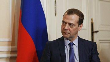 Председатель правительства РФ Дмитрий Медведев на конференции в Мюнхене