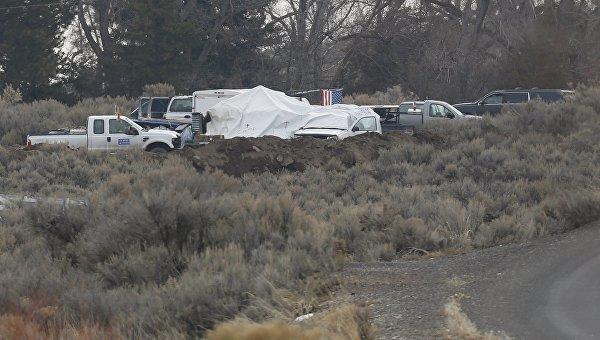 На месте протеста фермеров в заповеднике в штате Орегон, 12 февраля 2016