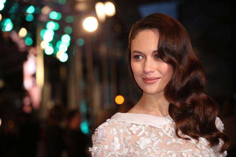 Актриса Ольга Куриленко на церемонии вручения премий Британской академии кино и телевизионных искусств
