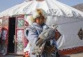 Состязания в традиционной охоте с ловчей птицей в Казахстане