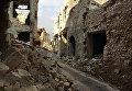 На улице старого рынка в историческом центре в Алеппо