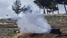 Позиция турецких военных на границе Турции и Сирии, 17 февраля 2016