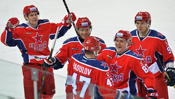 Хоккей. КХЛ. Матч ЦСКА - Динамо (Москва)