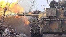 Сирийские солдаты обстреляли из орудий позиции боевиков в сражении за Кенсабу