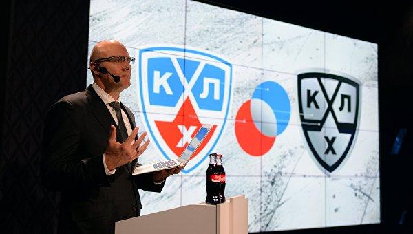 Президент Континентальной хоккейной лиги (КХЛ) Дмитрий Чернышенко на презентации нового фирменного стиля КХЛ в Москв