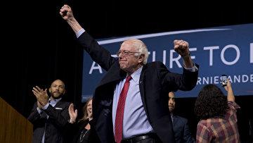 Кандидат в президенты США демократ Берни Сандерс
