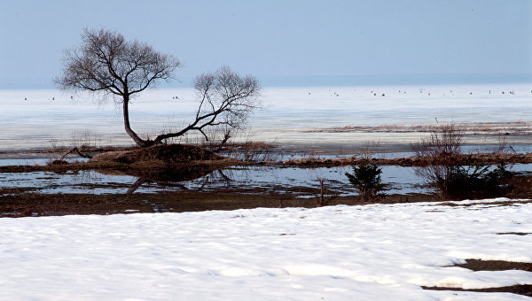 Вид на Плещеево озеро ранней весной. Архивное фото