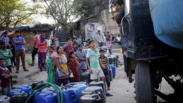 Проблемы с водой в Индии, 21 февраля 2016