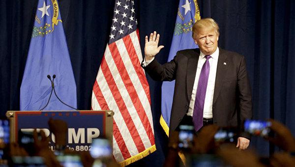 Кандидат в президенты от партии республиканцев Дональд Трамп в Лас-Вегасе