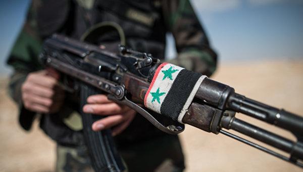 Боец Сирийской арабской армии. Архивное фото