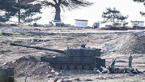 Турецкие военные на границе с Сирией. 15 февраля 2016. Архивное фото