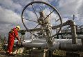 Рабочий на станции по добыче природного газа в Текирдаге