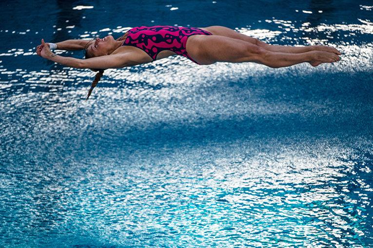 Таня Каньотто из Италии во время полуфинала Кубка мира FINA 2016 в Рио-де-Жанейро, Бразилия. 23 февраля 2016