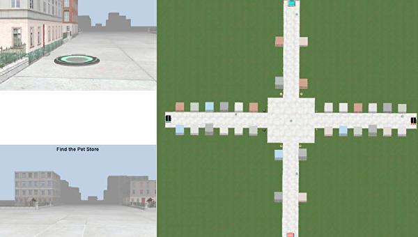 Телепорт и здание в виртуальной реальности