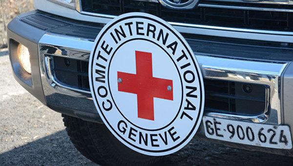 Машина Красного Креста на Украине. Архивное фото