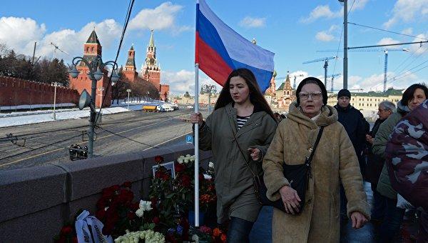 На месте гибели Бориса Немцова