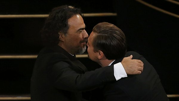 Алехандро  Иньярриту и Леонардо ди Каприо