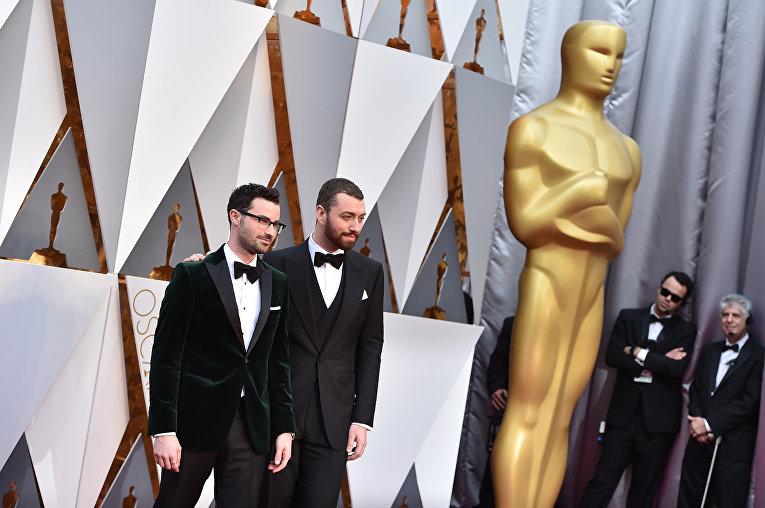 Сэм Смит и Джимми Нейпс на 88-й церемонии вручения премии Оскар