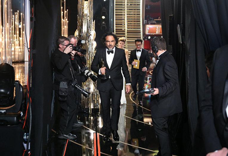 Режиссер Алехандро Гонсалес Иньярриту на 88-й церемонии вручения премии Оскар в Голливуде