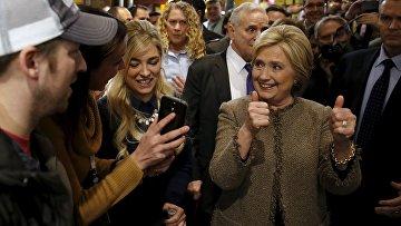 Кандидат в президенты США Хиллари Клинтон на демократических праймериз в Миннесоте