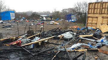 Лагерь мигрантов Джунгли во французском городе Кале. 29 февраля 2016