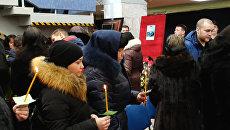 Церемония прощания с погибшими при взрыве в шахте Северная спасателями