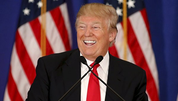 Кандидат в президенты США Дональд Трамп говорит о результатах первичных выборов в штате Мичиган, США
