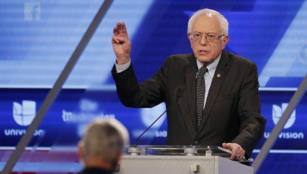 Кандидат в президенты США Берни Сандрес, 9 марта 2016