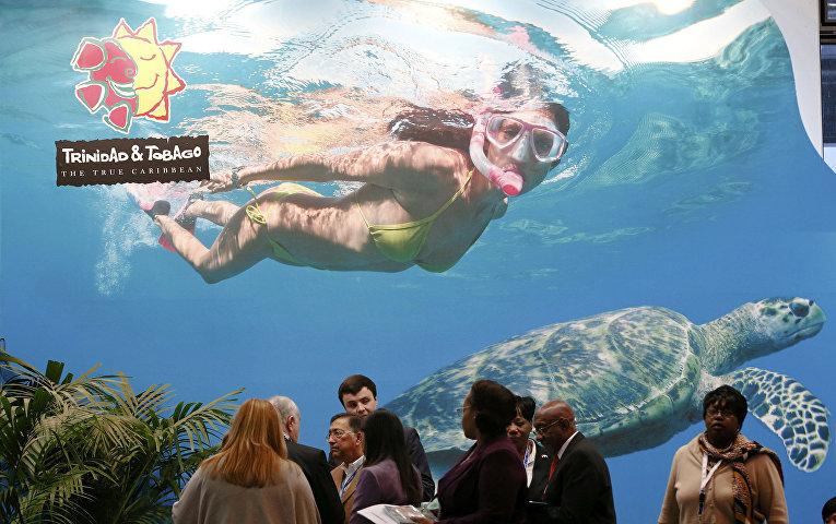 Выставочный стенд Тринидад и Тобаго. Международная туристическая ярмарка ITB в Берлине, март 2016