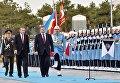 Президент Турции Тайип Эрдоган и президент Украины Петр Порошенко на церемонии официальной встречи у парадного входа в президентский дворец