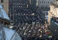 Автомобильные пробки на Тверской в Москве