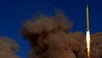 Тестовый запуск баллистической ракеты в Иране 9 марта 2016