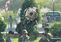 На месте обстрела армейских казарм и полицейского КПП на железнодорожной станции Чо Айронг в провинции Таиланда Наратхиват. 14 марта 2016