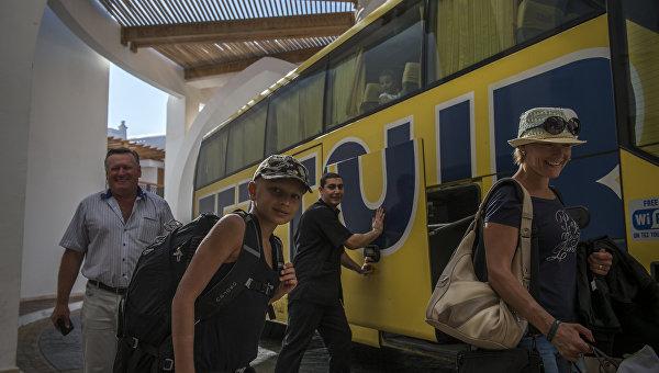 Российские туристы в Шарм-эш-Шейхе
