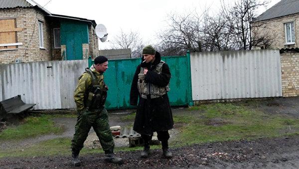 Ополченцы ДНР в поселке Зайцево под Горловкой. Архивное фото