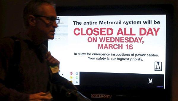 Закрытие метрополитена в Вашингтоне