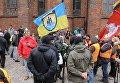 Шествие легионеров СС и их сторонников в Риге, Латвия. 16 марта 2016
