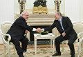 Встреча президента РФ В. Путина с президентом Израиля Р. Ривлином