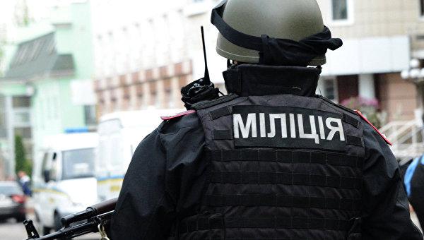 Сотрудники МВД Украины, архивное фото