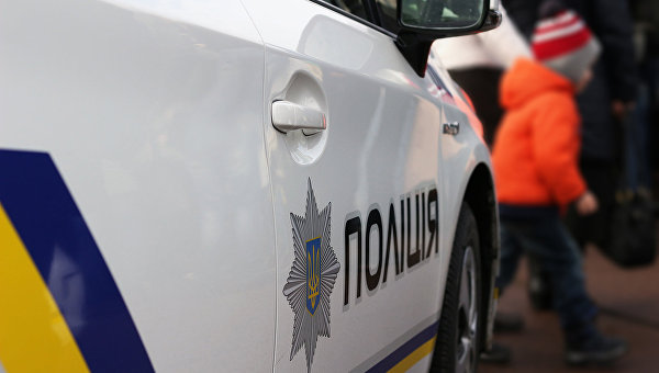 Автомобиль полиции на Украине