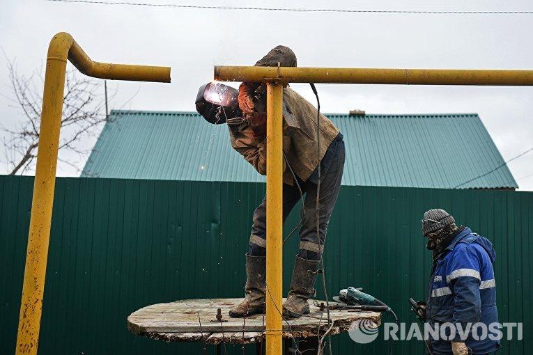 Сотрудники филиала компании Газпром газораспределение Тула восстанавливают работоспособность газопровода в поселке Плеханово Тульской области