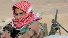 На позициях правительственной армии Сирии в 7 км к западу от города Пальмира в Сирии