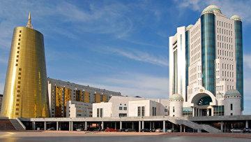 Здание парламента Республики Казахстан. Архивное фото