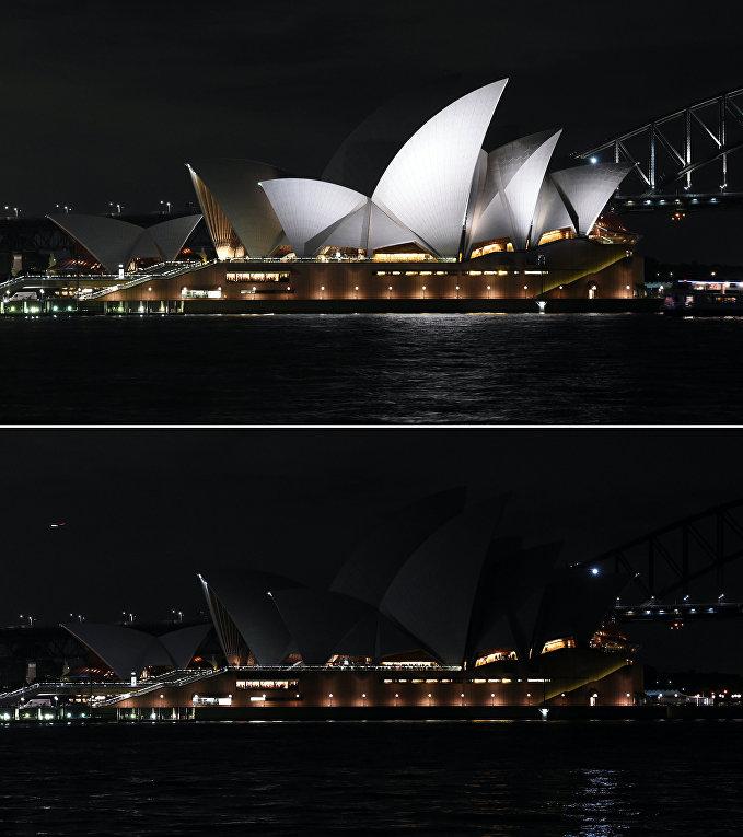 Экологическая акция Час Земли в Сиднее, Австралия