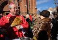 Богослужение в московском Кафедральном соборе