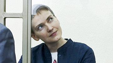 Надежда Савченко во время вынесения приговора в суде. 21 марта 2016