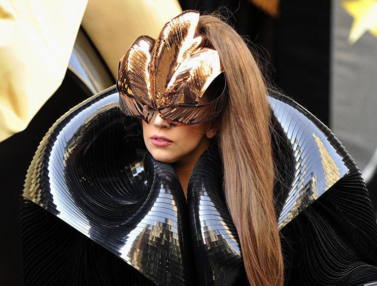 Певица Леди Гага в Нью-Йорке, 2012 год
